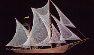Deborah Black Hernandez made this String Art Boat back in the 1970's.  We now call it The Argonauts Ship.  